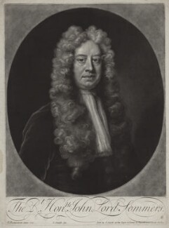 John Somers, Baron Somers, by and sold by John Smith, after  Jonathan Richardson - NPG D31101