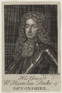 William Cavendish, 1st Duke of Devonshire, by John Clark, after  Sir Godfrey Kneller, Bt - NPG D31103