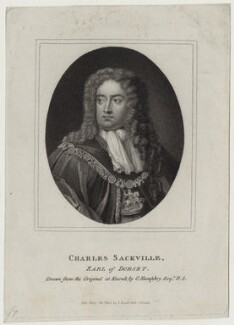 Charles Sackville, 6th Earl of Dorset, published by John Scott, after  Ozias Humphry, after  Sir Godfrey Kneller, Bt - NPG D31104