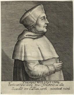 Thomas Wolsey, by Magdalena de Passe, by  Willem de Passe, published 1620 - NPG D33084 - © National Portrait Gallery, London