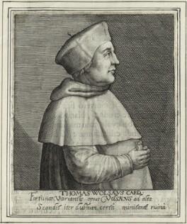 Thomas Wolsey, by Magdalena de Passe, by  Willem de Passe - NPG D33085