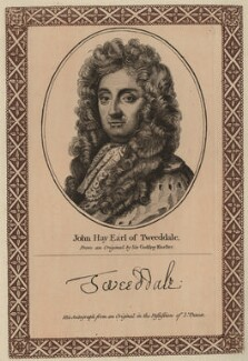 John Hay, 1st Marquess of Tweeddale, after Sir Godfrey Kneller, Bt, published by  John Thane - NPG D31106