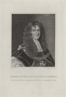 Aubrey de Vere, 20th Earl of Oxford, by Schenecker, after  Silvester (Sylvester) Harding - NPG D31108