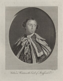 William Wentworth, 2nd Earl of Strafford, by James Heath, after  Sir Joshua Reynolds - NPG D31111