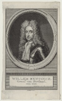 William Bentinck, 1st Earl of Portland, by Jacobus Houbraken, after  Simon du Bois - NPG D31112