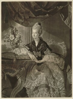 Charlotte of Mecklenburg-Strelitz, by Richard Houston, after  Johan Joseph Zoffany - NPG D33079