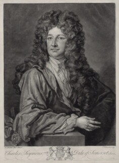 Charles Seymour, 6th Duke of Somerset, by John Faber Jr, after  Sir Godfrey Kneller, Bt - NPG D33092