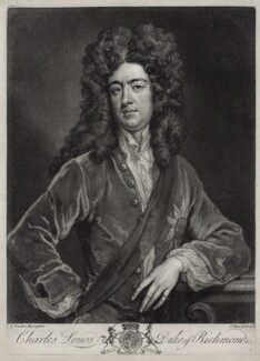 Charles Lennox, 1st Duke of Richmond and Lennox, by John Faber Jr, after  Sir Godfrey Kneller, Bt - NPG D33093