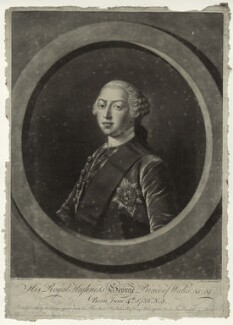 King George III, by Richard Houston, published by  Robert Sayer, published by  Elizabeth Bakewell, published by  Henry Parker, after  Henry Robert Morland - NPG D33140