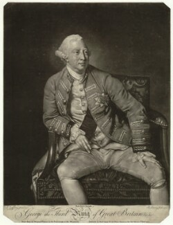 King George III, by Robert Lawrie (Lowry), published by  Robert Sayer, after  Johan Joseph Zoffany - NPG D33142