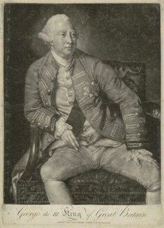 King George III, by Robert Lawrie (Lowry), published by  Robert Sayer, after  Johan Joseph Zoffany - NPG D33144