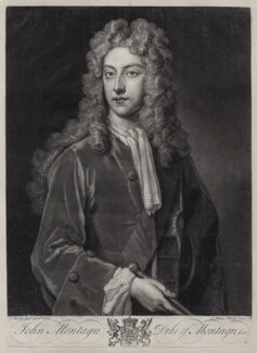 John Montagu, 2nd Duke of Montagu, by John Faber Jr, after  Sir Godfrey Kneller, Bt - NPG D33097