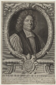 John Tillotson, by Robert White, after  Mary Beale - NPG D31123