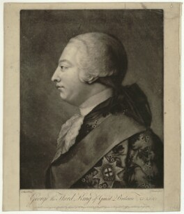 King George III, by J. Simson, published by  John Boydell, and published by  Thomas Jefferys, after  Jeremiah Meyer, after  James Macardell - NPG D33148