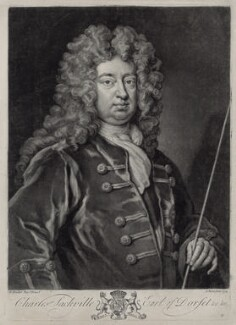Charles Sackville, 6th Earl of Dorset, by John Faber Jr, after  Sir Godfrey Kneller, Bt - NPG D33104