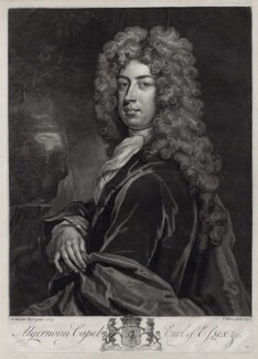 Algernon Capel, 2nd Earl of Essex, by John Faber Jr, after  Sir Godfrey Kneller, Bt - NPG D33105