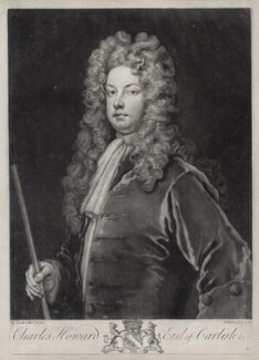 Charles Howard, 3rd Earl of Carlisle, by John Faber Jr, after  Sir Godfrey Kneller, Bt - NPG D33106