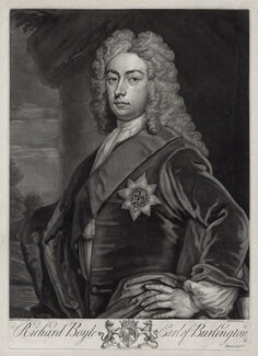 Richard Boyle, 3rd Earl of Burlington and 4th Earl of Cork, by John Faber Jr, after  Sir Godfrey Kneller, Bt - NPG D33107