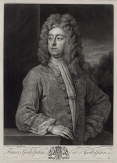 Francis Godolphin, 2nd Earl of Godolphin, by John Faber Jr, after  Sir Godfrey Kneller, Bt, 1732 - NPG D33110 - © National Portrait Gallery, London
