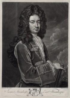 James Stanhope, 1st Earl Stanhope, by John Faber Jr, after  Sir Godfrey Kneller, Bt - NPG D33112