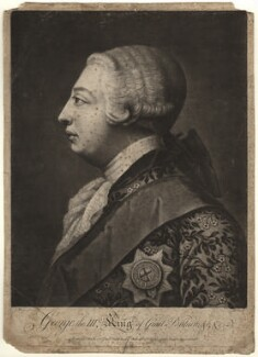 King George III, probably by John Raphael Smith, after  Jeremiah Meyer - NPG D9255