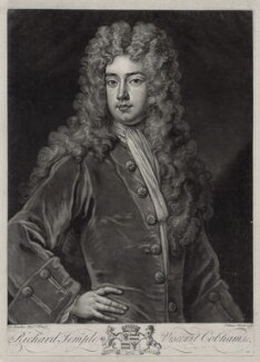 Richard Temple, 1st Viscount Cobham, by John Faber Jr, after  Sir Godfrey Kneller, Bt - NPG D33114