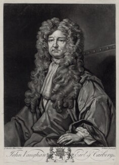 John Vaughan, 3rd Earl of Carbery, by John Faber Jr, after  Sir Godfrey Kneller, Bt - NPG D33117