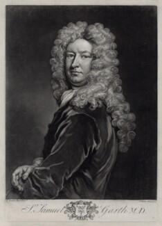 Sir Samuel Garth, by John Faber Jr, after  Sir Godfrey Kneller, Bt - NPG D33122