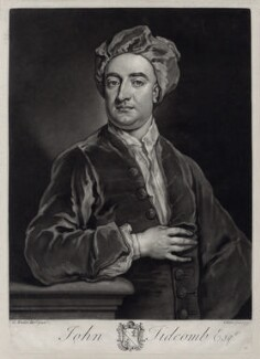 John Tidcomb, by John Faber Jr, after  Sir Godfrey Kneller, Bt - NPG D33124