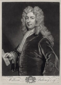 William Pulteney, 1st Earl of Bath, by John Faber Jr, after  Sir Godfrey Kneller, Bt - NPG D33125