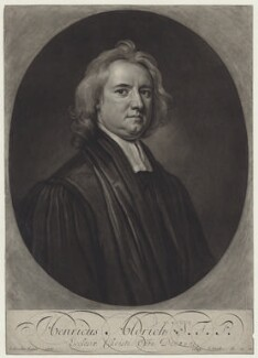 Henry Aldrich, by and published by John Smith, after  Sir Godfrey Kneller, Bt - NPG D31139