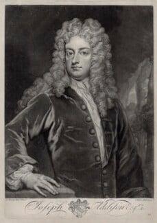Joseph Addison, by John Faber Jr, after  Sir Godfrey Kneller, Bt - NPG D33126