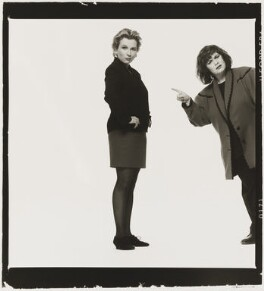 Jennifer Saunders; Dawn French as 'French and Saunders', by Trevor Leighton, 1989 - NPG  - © Trevor Leighton / National Portrait Gallery, London