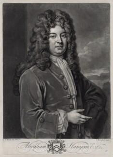 Abraham Stanyan, by John Faber Jr, after  Sir Godfrey Kneller, Bt - NPG D33128