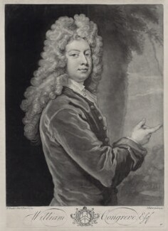 William Congreve, by John Faber Jr, after  Sir Godfrey Kneller, Bt - NPG D33132