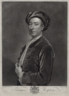 Thomas Hopkins, by John Faber Jr, after  Sir Godfrey Kneller, Bt - NPG D33134