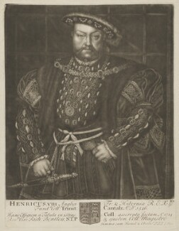 King Henry VIII, by John Faber Sr, after  Hans Holbein the Younger - NPG D9258