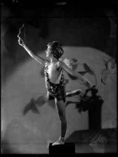 Helen ('Bunty') Kelley (later Bernstein) as Cupid in 'Queen of Hearts', by Bassano Ltd - NPG x153494