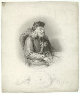 King George III, published by Robert Cribb & Son, published by  Robert Cooper, after  Unknown artist - NPG D33159