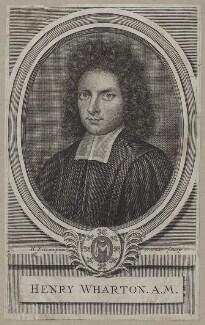 Henry Wharton, by Robert White, after  Henry Tilson - NPG D31160