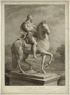 King George III, by and published by William Bromley, after  Edward Francisco Burney, after  Agostino Carlini - NPG D33167