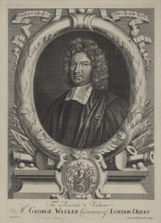 George Walker, possibly by Adriaen Haelwegh, published by  Daniel de la Feuille - NPG D31183