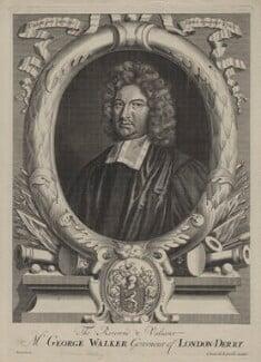 George Walker, possibly by Adriaen Haelwegh, published by  Daniel de la Feuille - NPG D31183