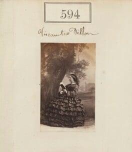 Lydia Sophia (née Story), Viscountess Dillon, by Camille Silvy - NPG Ax50274