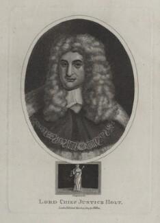 Sir John Holt, by John Chapman, after  Sir Godfrey Kneller, Bt - NPG D31191