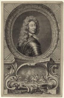Frederick Herman de Schomberg, 1st Duke of Schomberg, by Jacobus Houbraken, published by  John & Paul Knapton, after  Sir Godfrey Kneller, Bt - NPG D31199