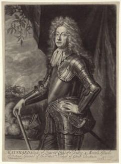 Meinhard de Schomberg, 3rd Duke of Schomberg, by John Smith, after  Sir Godfrey Kneller, Bt - NPG D31200