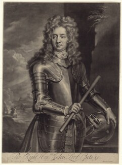 John Cutts, Baron Cutts, by and published by John Simon, after  Sir Godfrey Kneller, Bt - NPG D31204
