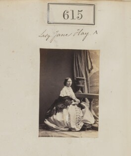 Jane (née Hay), Lady Taylor, by Camille Silvy, 1860 - NPG Ax50286 - © National Portrait Gallery, London