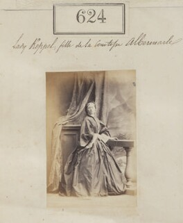 Lady Louisa Charteris (née Keppel), by Camille Silvy - NPG Ax50294